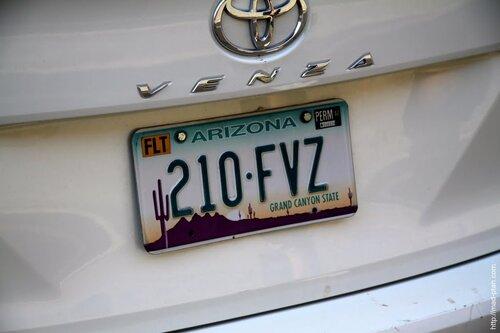 Аризона номерной знак