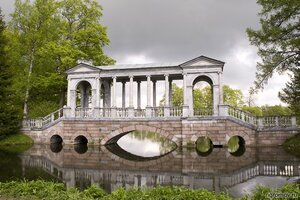 Мраморный мостик (мост, парк, Пушкин)