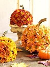 декорирование тыквы цветами