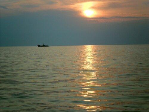 Морской закат.