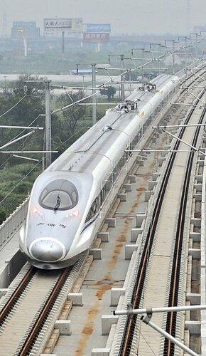 Китайский поезд установил мировой рекорд скорости