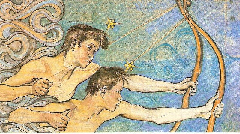 vintage illustration,Stanislaw Wyspianski