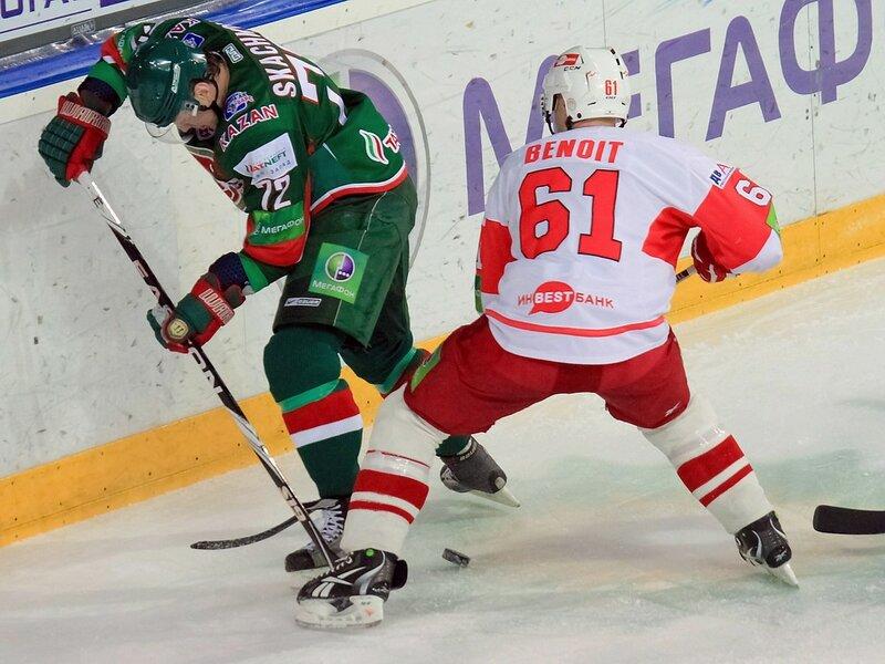 «Ак Барс» vs «Спартак» 1:3 чемпионат КХЛ 2011-2012 (Фото)