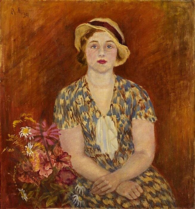 Портрет художницы Нины Лекаренко, 1934