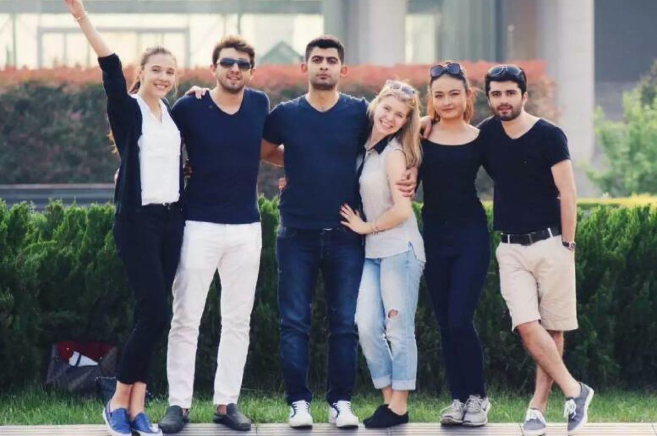 Ольга с друзьями