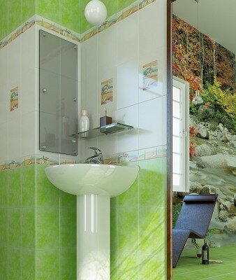 green color in an interior