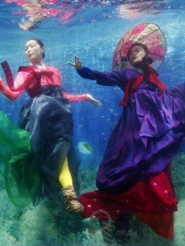 Первый в мире подводный показ мод, Сеул 2010