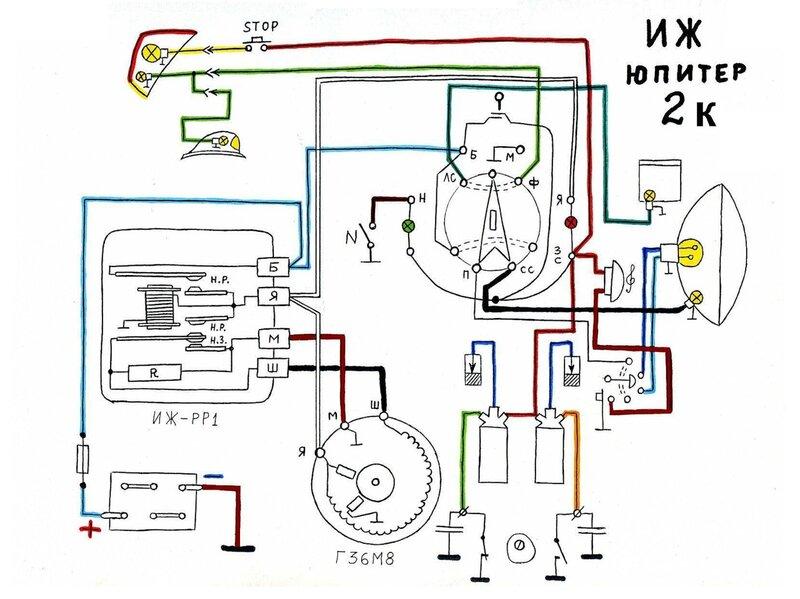 Схема проводки иж ю 3