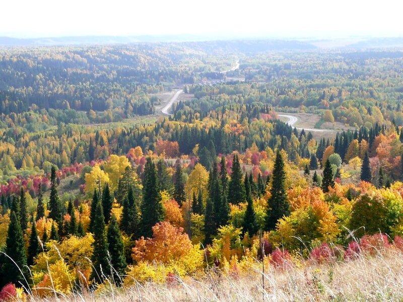 фото осень на урале