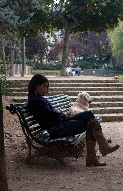 барселонка с собакой