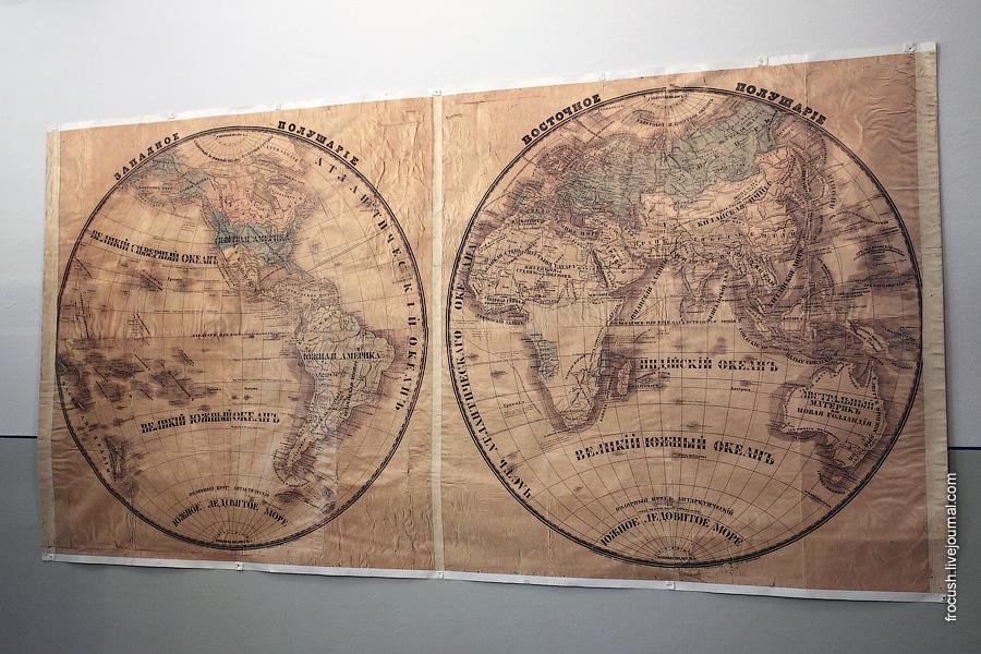 Симбирская классическая гимназия. Карта мира