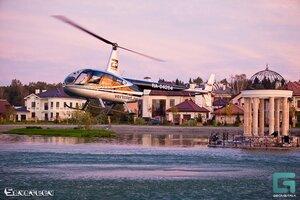 Вертолёт над Гринфилдским озером