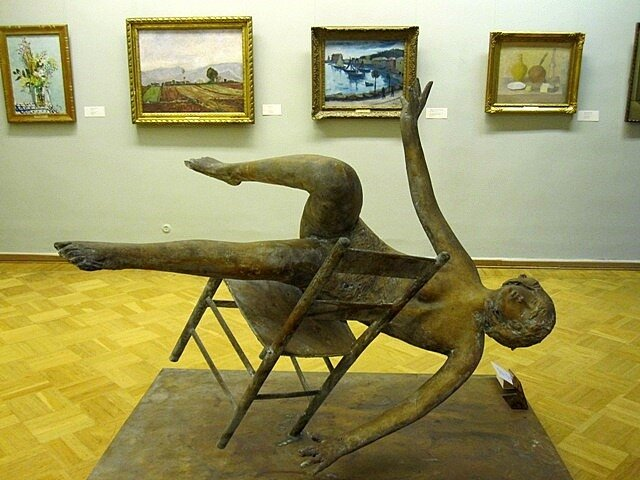Giacomo Manzu (1908 - 1991). Falling Tebe ,1983. Given dy the author, 1987. Hermitage, Saint Petersburg, Russia