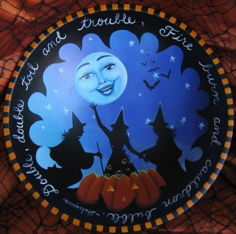 Декоративная тарелка Хеллоуин