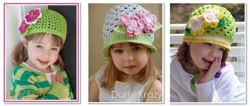 вязаные детские шапочки - идеи для вязания