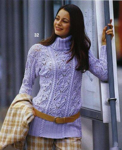 Описание вязания пуловера и