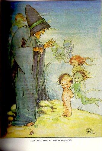 Mabel Lucie Attwell, цветная вклеенная картинка