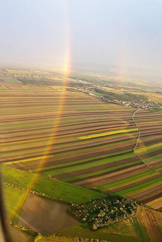 фотографииберлин, германия отчёт, германия фотоотчёт, кольцевая радуга, фото из самолёта