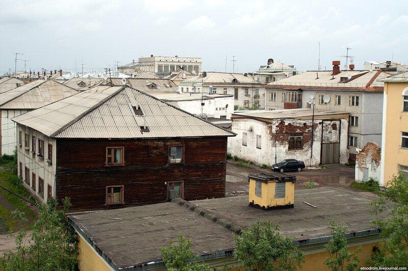 Вид из гостиницы Горняк