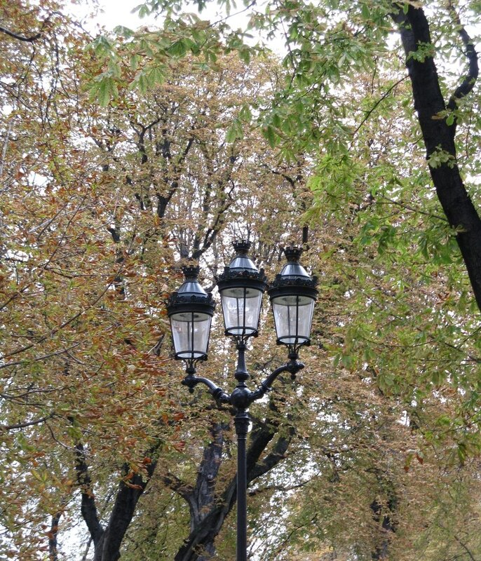 Сады Елисейских полей (Jardin des Champs-Élysées), осень