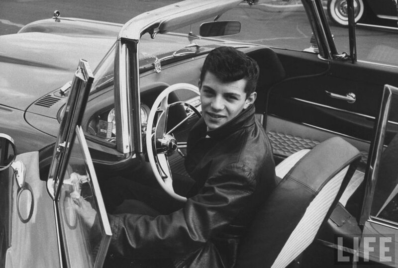 Frankie Avalon in His Pontiac
