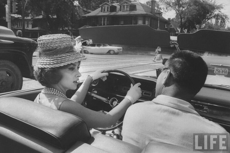 Gina Lollobrigida Takes a Driving Lesson