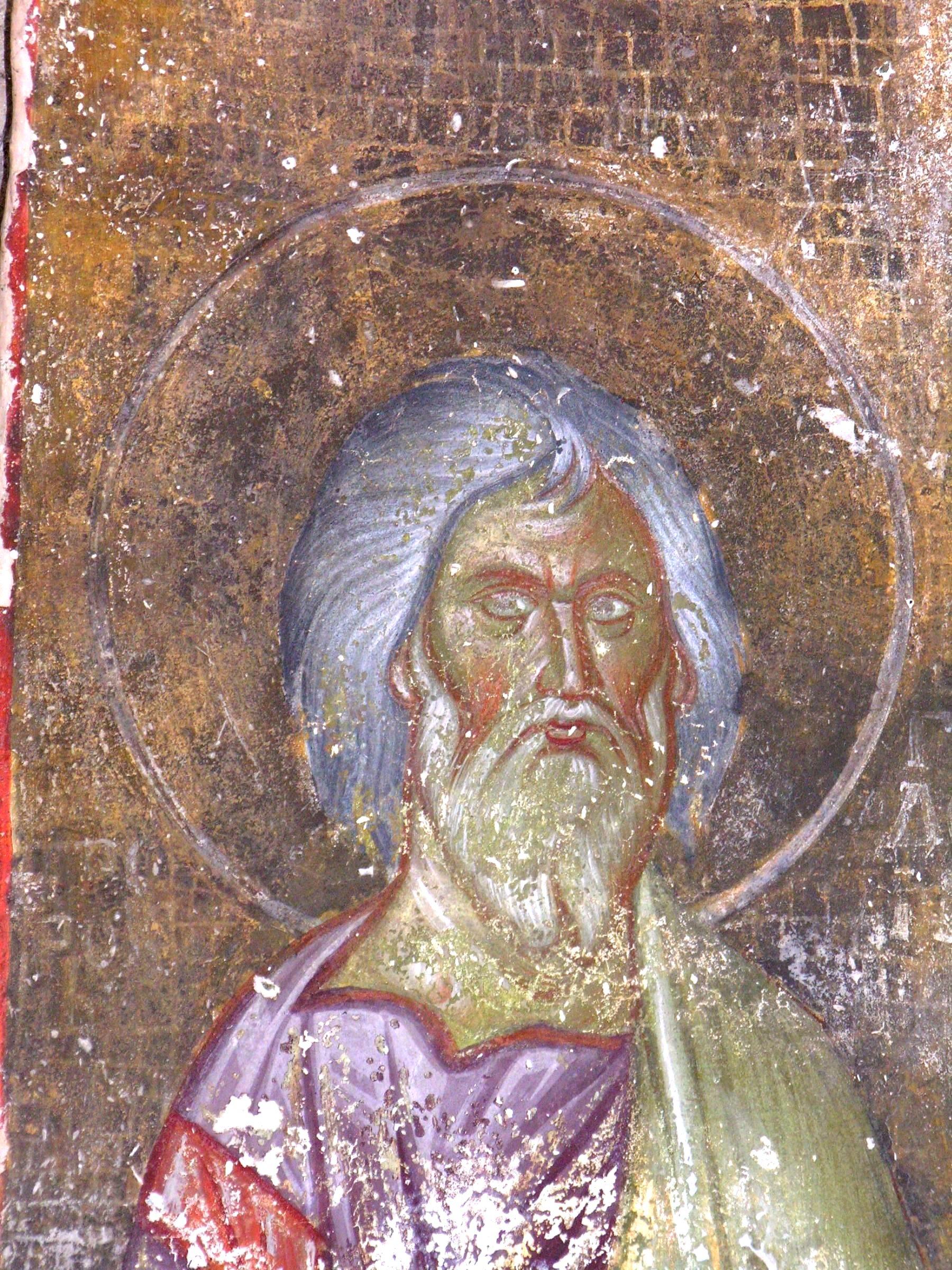 Святой Праведный Гедеон. Фреска церкви Благовещения Пресвятой Богородицы в монастыре Градац, Сербия. Около 1275 года.