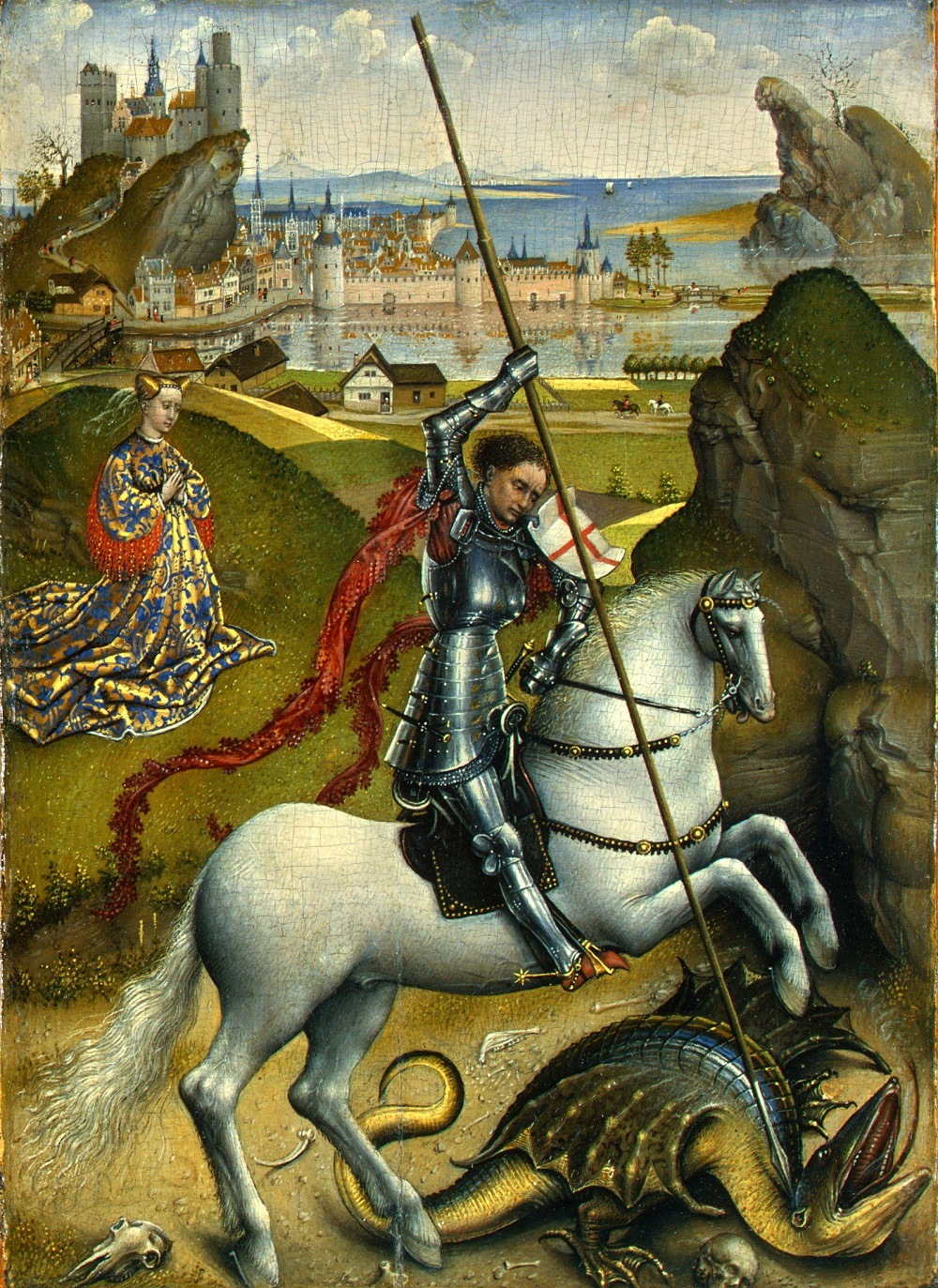 1430 Рогир ван дер Вейден (Rogier van der Weyden (1399 1464) Saint George and the Dragon.jpg