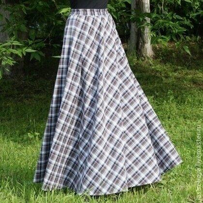 Как сшить длинную теплую юбку в пол