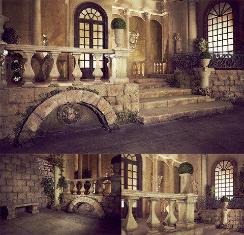 фотосессия в средневековом замке в историческом стиле