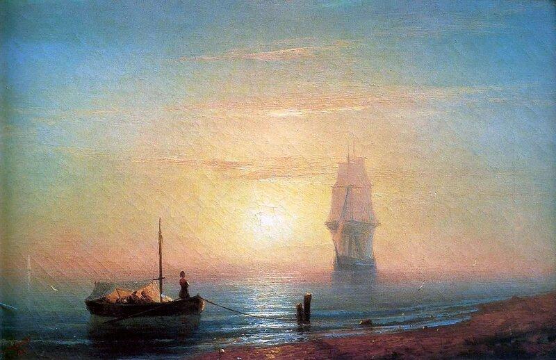 Айвазовский. Закат на море.jpg