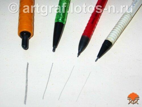 Виды механических карандашей