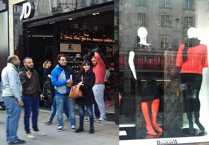 nas ruas de Londres