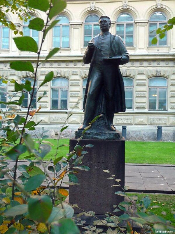 Памятник финскому живописцу А. Эделфелту.