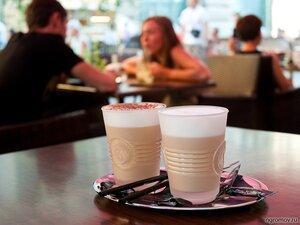 Всем романтикам-кофеманам посвящается (кафе, кофе, лето, пара, человек)
