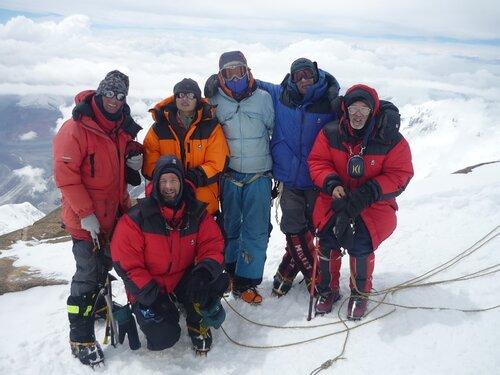 Мы на вершине пика Победы, 23 августа 2010