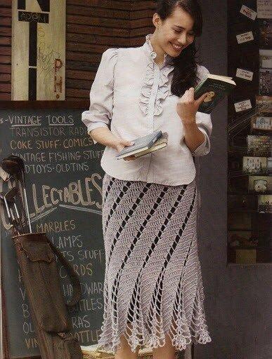 схему вязания простой юбки