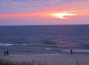 Закат над морем...