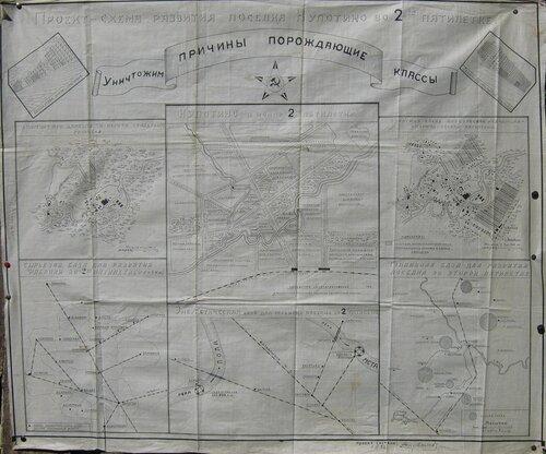 Проект-схема развития поселка Кулотино во 2-й пятилетке