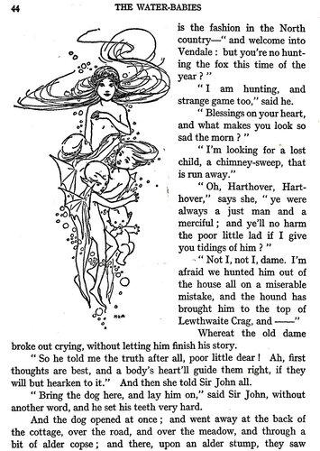 черно-белая иллюстрация к детской книжке Мэйбл Л. Эттвелл, текст Кингсли
