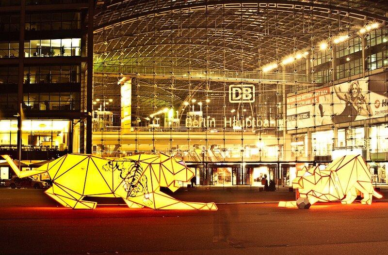 фотографии ночной берлин, германия отчёт, германия фотоотчёт, центральный вокзал Берлина Hauptbahnhof