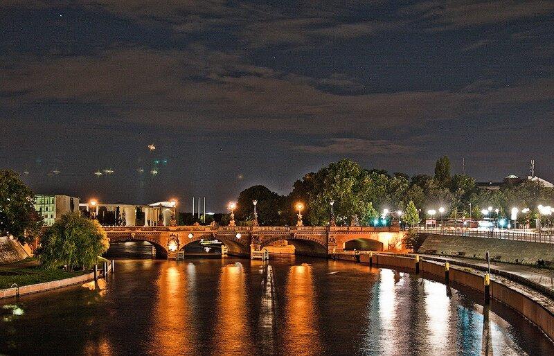 фотографии ночной берлин, германия отчёт, германия фотоотчёт, Дворцовый мост