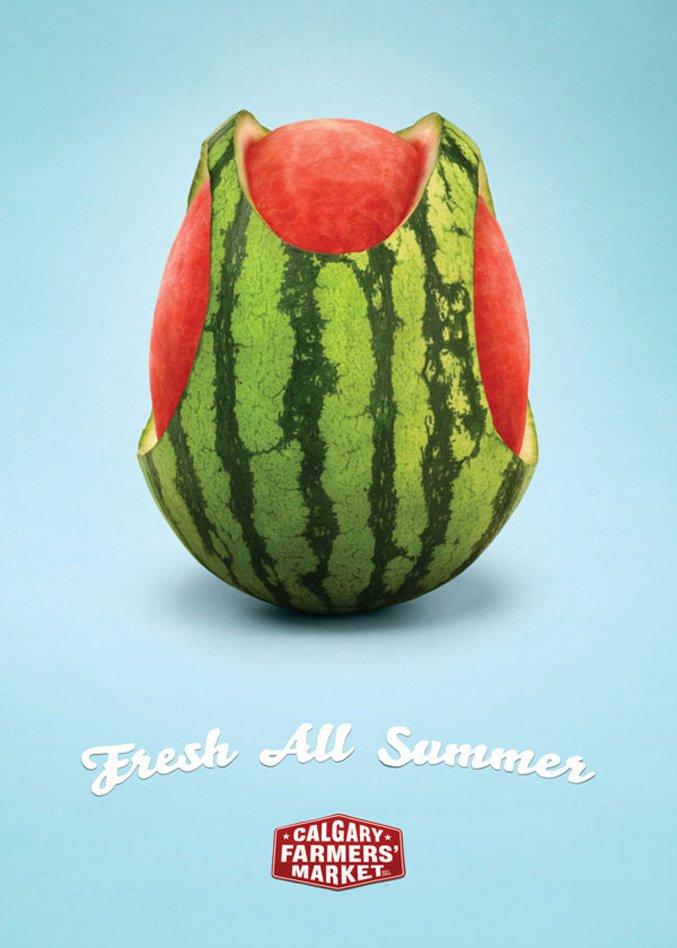 креативная реклама / advertise Calgary Farmers Market
