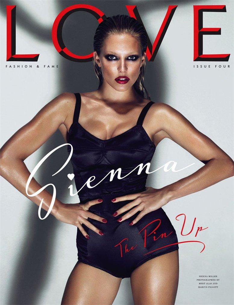 Love Magazine 4 covers by Mert Alas and Marcus Piggott - Sienna Miller