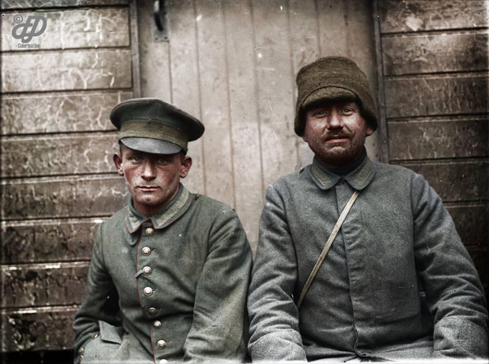 Немцы в плену у канадцев. Первая мировая 1917 г.  ( 8 фото )
