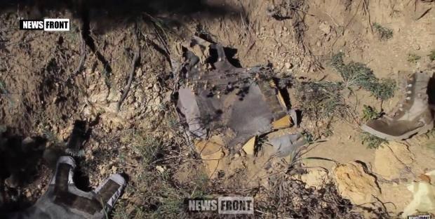 """Террористы """"ЛНВ"""" утверждают, что нашли останки бойца ВСУ (видео, 18+)"""