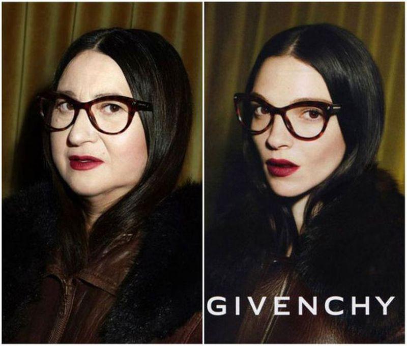 3. Пародируя известные съемки модных домов Givenchy, Lanvin, Etam, Lancome, Sonia Rykiel, Acne Studi