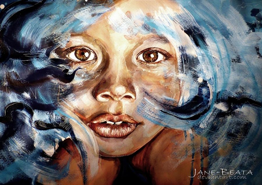 Люди и лица — Художник Jana Lepejova (60 фото)