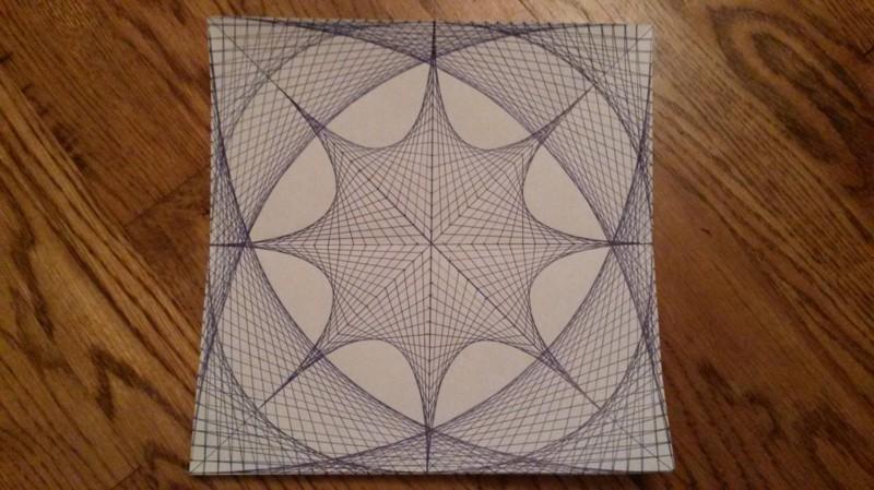 8. Рисунок, нарисованный прямыми линиями.
