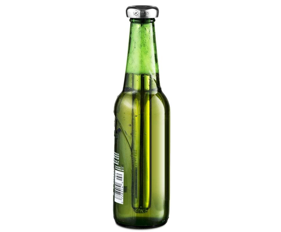 Крышка со специальной охлаждающей палочкой поможет моментально охладить пиво или любой другой напито
